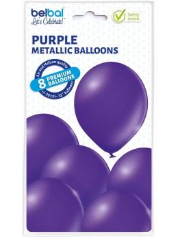 8 Ballons violet nacré 30cm