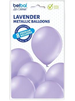8 Ballons lilas nacré 30cm