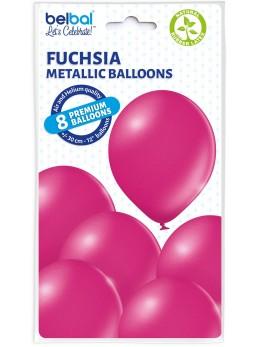 8 Ballons fuchsia nacré 30cm