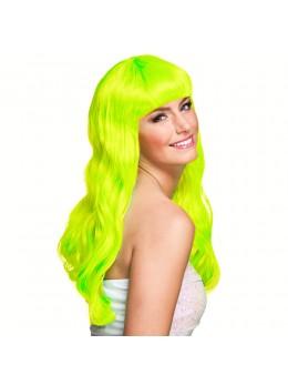 Perruque lola vert fluo