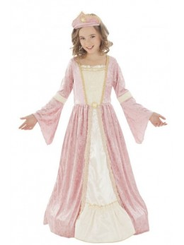 Déguisement princesse médiévale rose