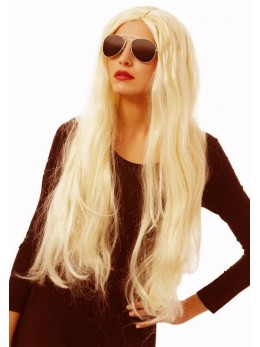 Perruque cheveux long blond