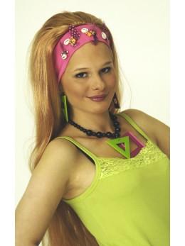 Perruque Ibiza blonde avec bandeau