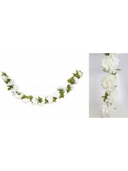 Guirlande Hortensia blanc 220cm