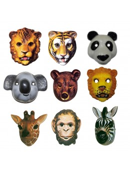 Pack 9 Masques Animaux Jungle