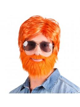 Perruque + barbe Saint Patrick