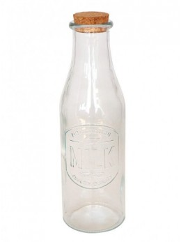 Bouteille de lait verre 29cm