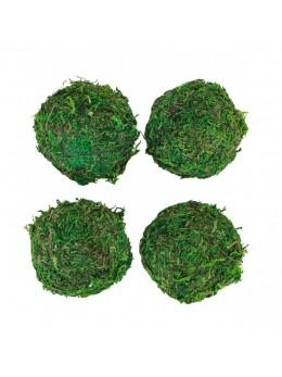 4 boules déco mousse 6cm