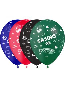 8 Ballons thème casino