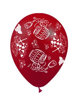 8 Ballons thème vendanges