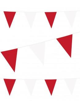 Guirlande pavillon rouge et blanc 10m