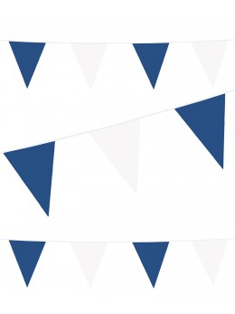Guirlande pavillon bleu et blanc 10m