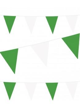 Guirlande pavillon vert et blanc 10m