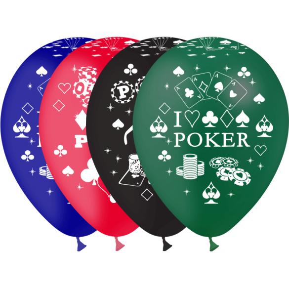 8 Ballons thème poker