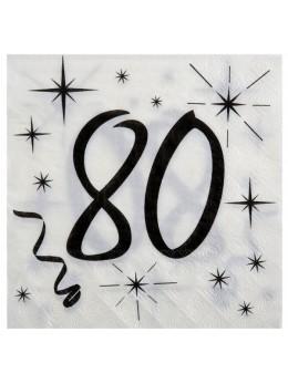 20 serviettes 80 ans
