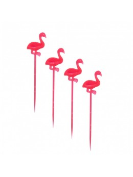 20 flamants rose sur pic 8 cm