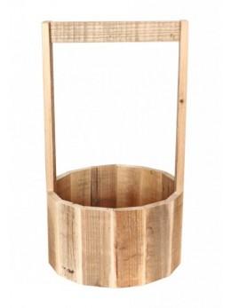 Support bois rond avec anse
