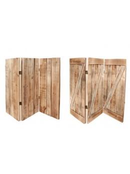 Paravent bois 3 panneaux 120cm