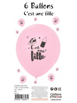 """6 Ballons """"c'est une fille"""""""