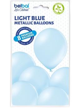 8 Ballons ciel nacré 30cm