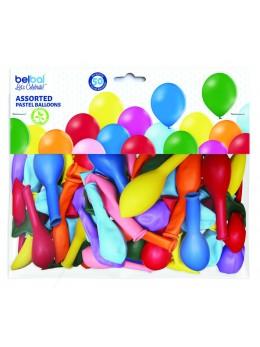 50 ballons multicolores 30cm