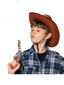 Pistolet cowboy plastique 20cm