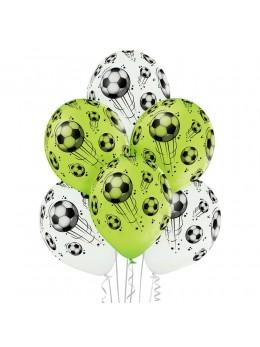 6 Ballons motif foot