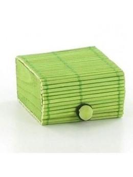 6 Boîtes bambou verte