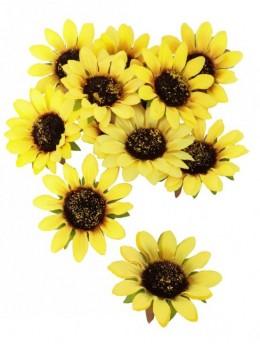 12 tournesols jaune 8cm