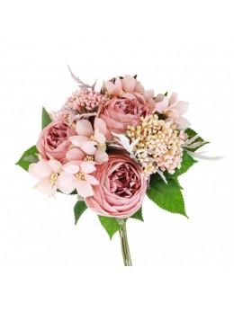 Bouquet de fleurs vieux rose