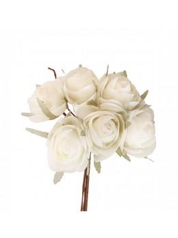 Bouquet de 6 renoncules ivoire