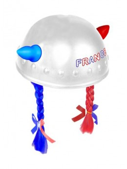 Casque gaulois supporter France tresses