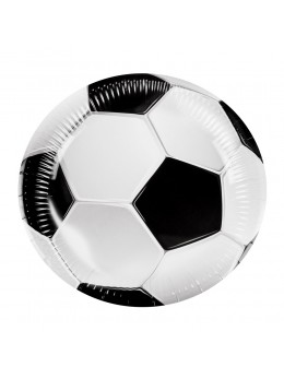 6 assiettes ballon de foot 23cm