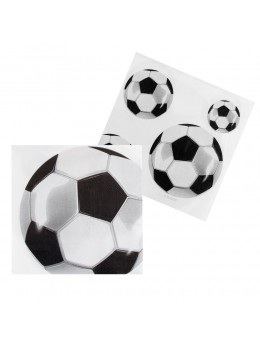 16 serviettes ballon de foot