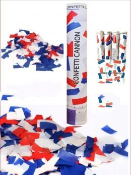 Canon à confetti tricolore 30cm