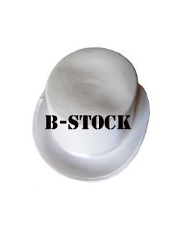 Chapeau haut de forme B-Stock blanc