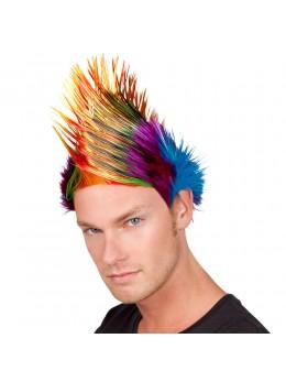 Perruque rainbow punk