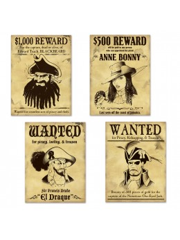 4 Wanted pirate