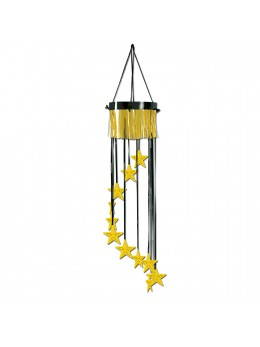 Déco suspension spirale star or