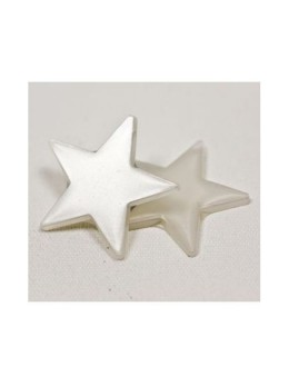 48 confetti étoiles blanc