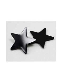 48 confetti étoiles noir