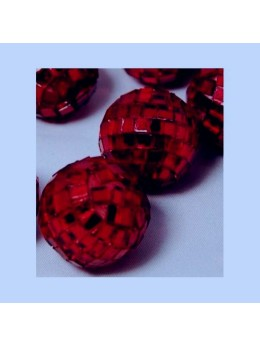 Mini boules à facettes bordeaux