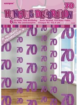 Rideau de porte 70 ans rose