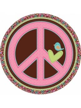 8 Assiettes carton Hippie