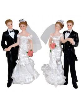 Figurine couple mariés 14cm