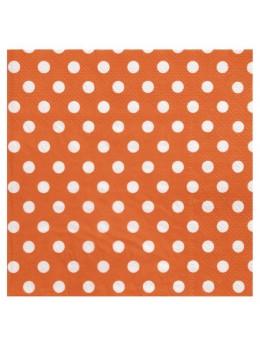 20 Serviettes papier pois orange