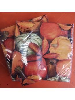 20 serviettes lunch automne