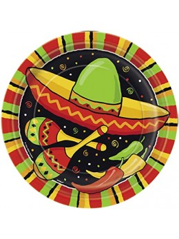 8 Assiettes fiesta mexicaine 23 cm
