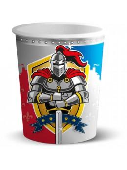 8 Gobelets chevalier médiéval