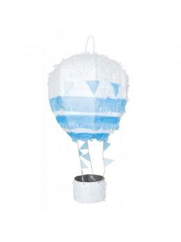 Pinata montgolfière bleu